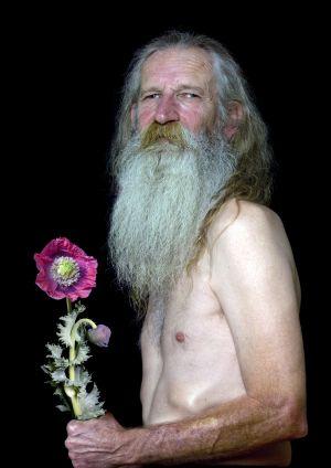 Alan with Opium Poppy